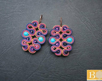 Butterfly effect soutache earrings