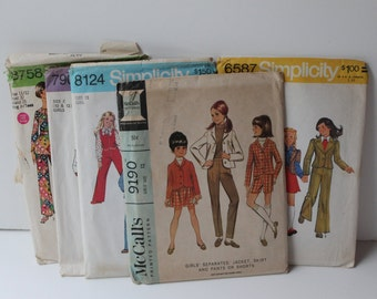 1970 Lot of 6 Simplicity/McCall's Patterns: Girl's Size 8-12 (Lot 1)