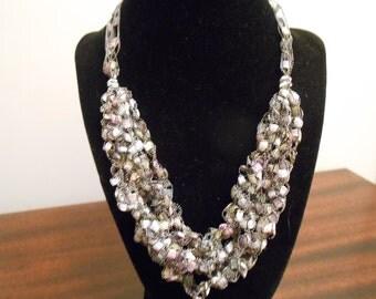 Trellis Necklace / Crochet Necklace Item No. 29