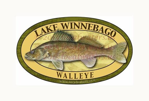 Lake Winnebago Sticker Walleye Deactivate by Localwaters ...