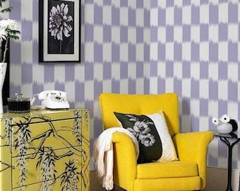 Self-adhesive modern vinyl Wallpaper wall sticker - Large Check pattern wallpaper decal C034