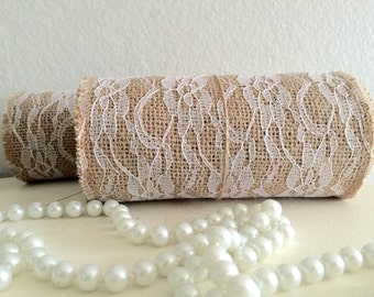 Burlap and Lace 5.5 in x 8 ft Ribbon