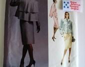 1987 Dress Pattern FF Vogue American Designer 1957 Bust 36 Jacket & Skirt Womens Vintage Sewing Patterns