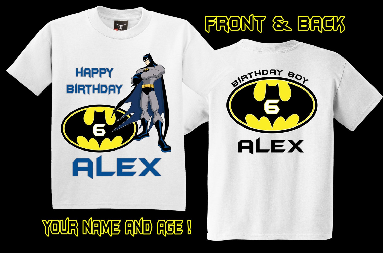 Personalized Batman Birthday Shirt - Free Custom Invitation Template Design | Verrado Drift