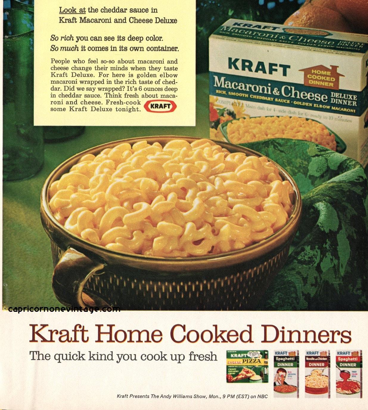 1966 kraft macaroni cheese magazine ad vintage food for Cuisine kraft