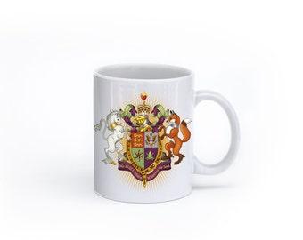 Custom Crest Mug-Wedding or Housewarming Gift-Personalized Family coat of Arms Mug