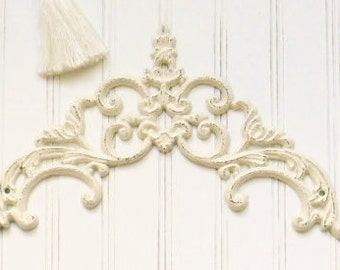 Cast Iron Wall Art, French Country, Picture Topper, Door topper, Cast Iron Wall Decor, Iron Wall Scroll, Shabby Ciottage Decor, Wall Art