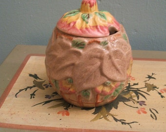 Brentleigh Ware Beech Jam Pot, 1950s