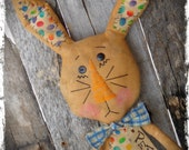 Primitive Bunny Rabbit Doll, Easter Bunny, Spring Decor, OFG FAAP