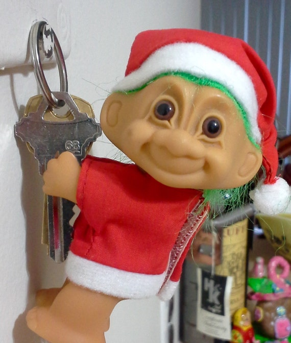 Santa Troll Doll With Hands That Grip Clip On By Lalecreations