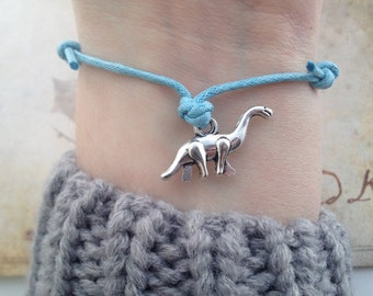 Dinosaur Bracelet - Bohemian Bracelet - adjustable cord bracelet - friendship bracelet - Random Bracelet - tribal bracelet