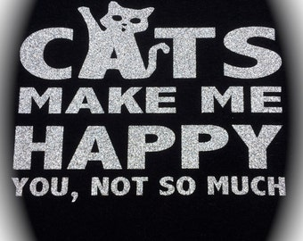 Cats Make Me Happy Iron On