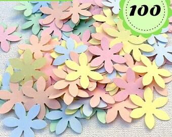 Pastel Confettis - 100 Flowers - Scrapbooking - Party confetti