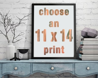 11x14 or 11x11 Photography Print. Your choice of any image as a fine art print.