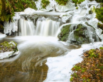 Winter Waterfall: 8x10 photographic print. Available in more sizes printed on pearl or metallic paper.