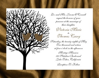 Tree  Bird Invitation & RSVP  Tree Love Birds Wedding Invitation Tree Bird Wedding Invitation - Tree Design 10