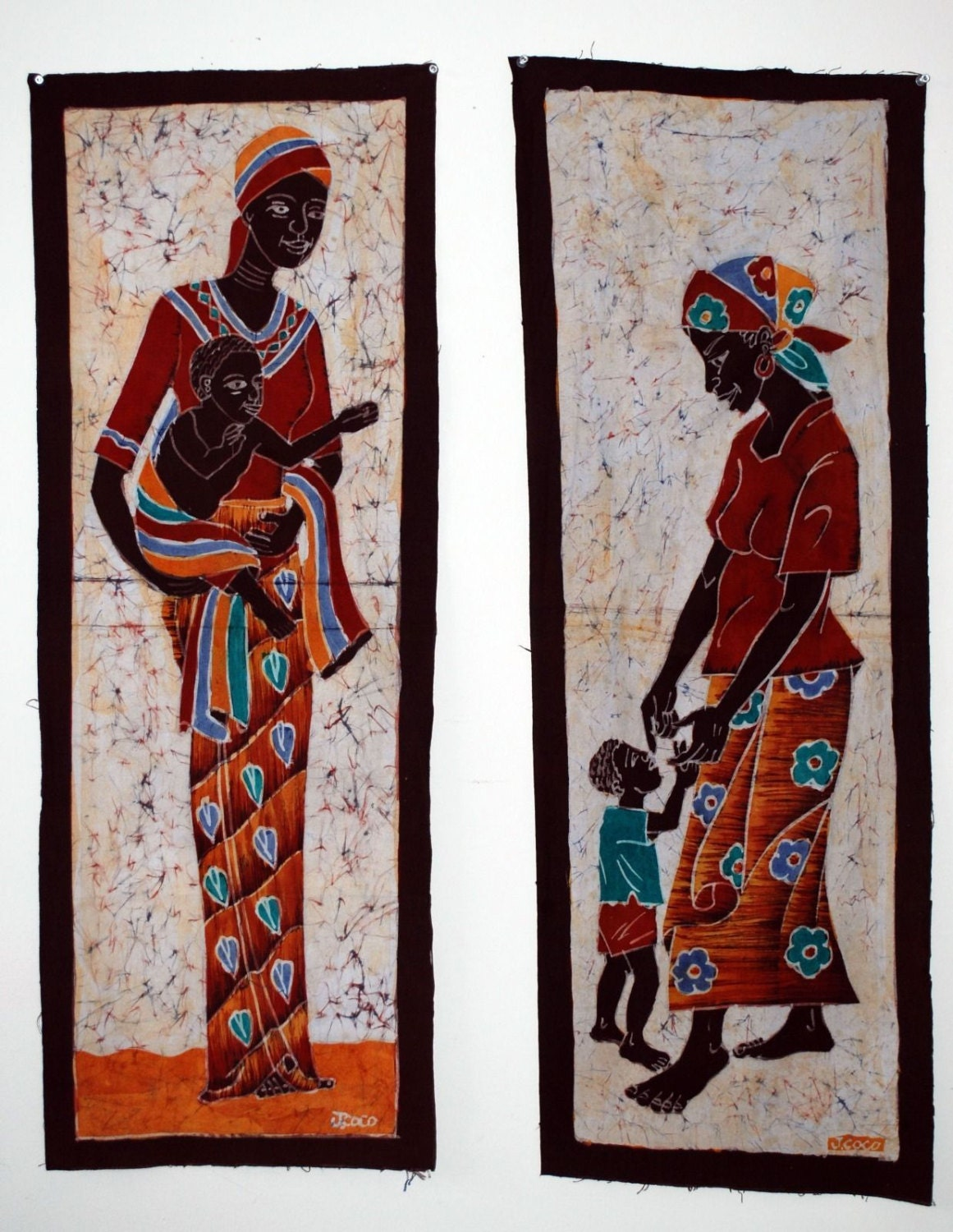 African batik home decor art for sale african art prints for African mural painting