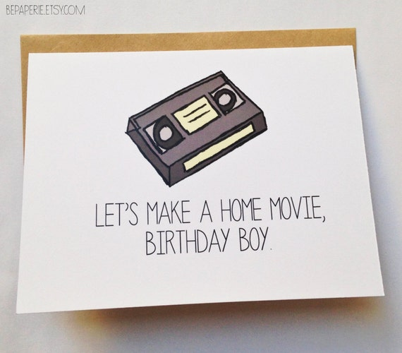 Naughty Birthday Card / Funny Birthday Card for Him / Sexy