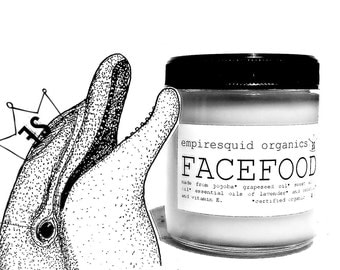 Organic Face Cream - Face Food with Beeswax - Natural Face Moisturizer - Natural Face Cream - Organic Face Moisturizer