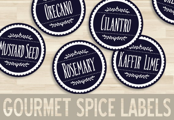15 printable spice labels round circle sticker With kitchen colors with white cabinets with avery circle stickers