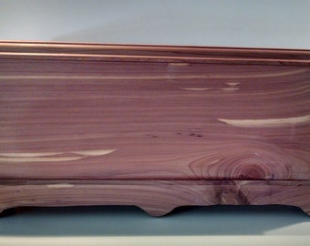 Custom made cedar jewelry box - a small cedar chest