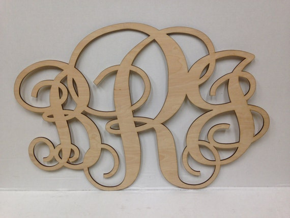 Unpainted Wood Letters Large Nursery Wall By