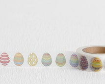Rainbow Easter Egg Washi Tape, Paper Tape Great for DIY Easter Cards, 15mm