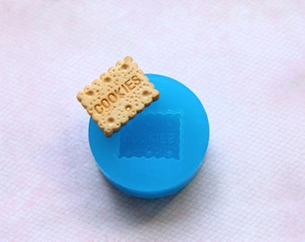 Biscuit Cookie Mold Embellishment Flexible Food Safe Oven Safe Kawaii Resin Polymer Clay Candle Wax Candy
