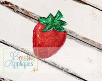Strawberry Feltie Machine Embroidery Design 3 sizes