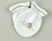 Designer Organic Baby Clothes Designer baby mittens rainbow
