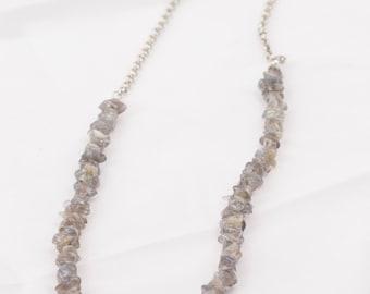 Labradorite+Chain Necklace