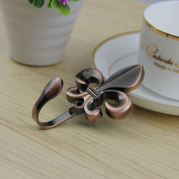 Gold silver fleur de lis hook decorative hooks wall hooks - Fleur de lis coat hook ...