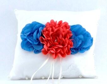 Ring Bearer Pillow Custom Satin Ring Pillow Choose Size and Colors Wedding Pillow Ring Bearer Pillow Satin Pillow Wedding Flower Accessories