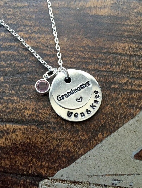 Grandma necklace grandchild necklace personalized necklace for Grandmother jewelry you can add to