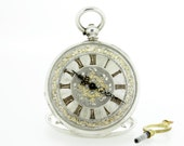 Argent Silver Pocket Watch Key Wind and Set
