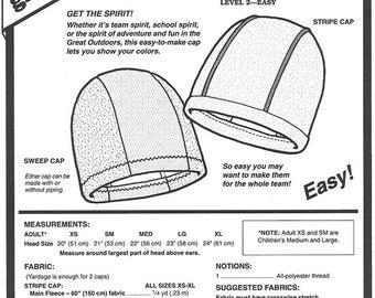Sewing Pattern  Polar Fleece Hat Pattern Polar Fleece Cap Pattern  for Both Adults and Children Green Pepper Patterns - GP 540