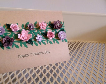 Customizable Floral Garden Card - Hand Quilled