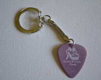 Guitar Pick Jewelry, Dunlop Aligator Guitar Pick Key Chain