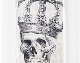 iPhone 5 5s Case - Diamond Skull & Crown iPhone 5 Hard Back Case Skin Cover