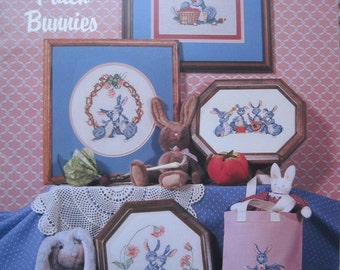 Cross Stitch Book - Briar Patch Bunnies - by Country Cross Stitch #56 - Vintage 1987