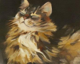 Cat - calico - fine art print - smiling cat - Pamela Poll