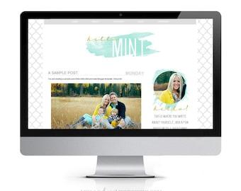 Items Similar To Blogger Premade Template Black White