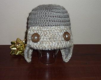 Crochet Aviator Hat