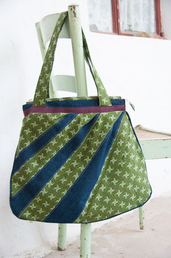 green hobo bag is your south african shweshwe and denim dream. Black Bedroom Furniture Sets. Home Design Ideas