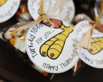 Thanksgiving Turkey Toes Favor Tags- Turkey Toes Tag- Turkey Toes Favor Tag- Square Thanksgiving Favor Tag