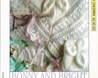 "Knitting pattern - Baby ""Bonny and Bright"" layette - Instant download"