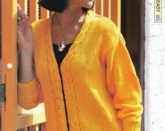 "Knitting pattern - Woman's ""Clear Cut-B"" jacket cardigan - Instant download"