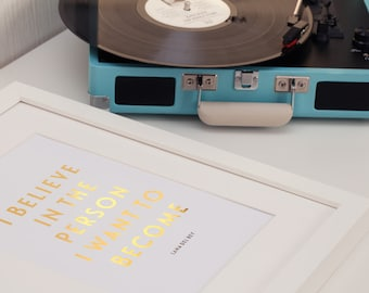 Lana Del Rey 'I Believe In The Person',  Real Gold Foil Print