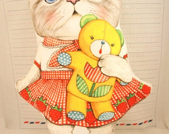 pillow doll,  cat doll,  soft toy, toy doll,  strawberry doll