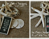 It Is Well With My Soul hand soldered pendant necklace by Sea Dream Treasures ~ free US shipping